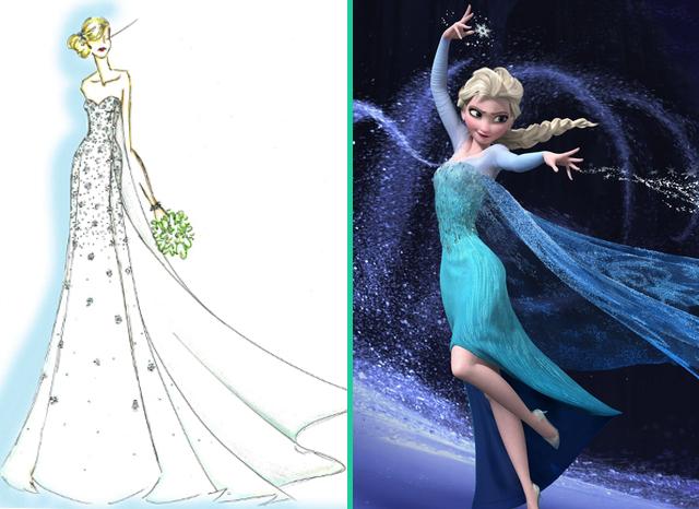 Disney rilascia un abito da sposa ispirato a Frozen - Il Regno di ... 21f9542c35a