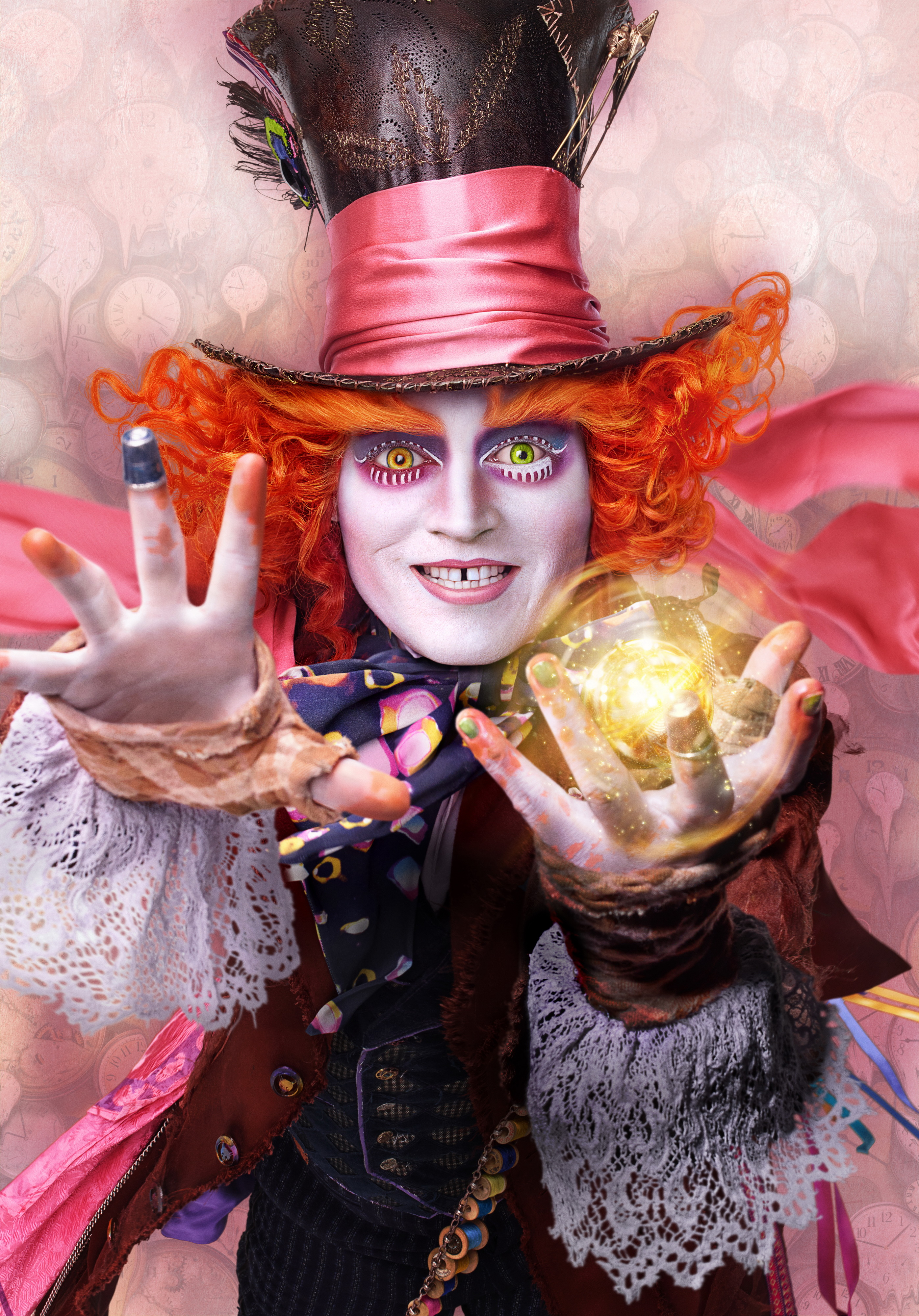 Johnny Depp is Hatter in ALICE THROUGH THE LOOKING GLASS.