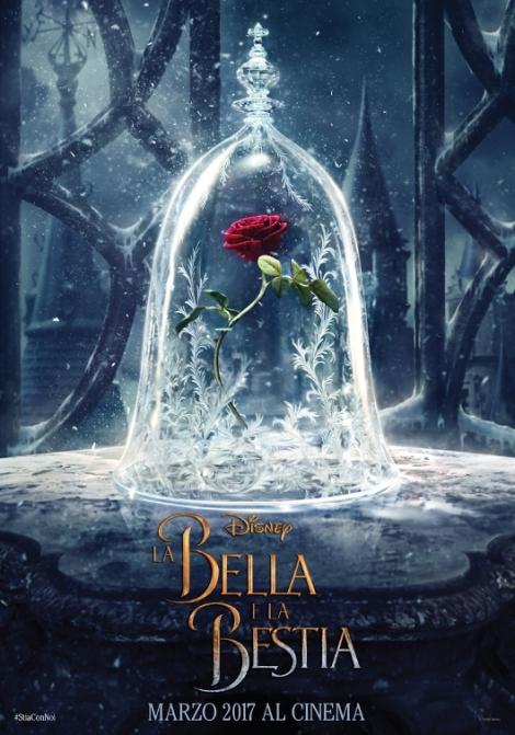 bella e la bestia teaser poster italiano