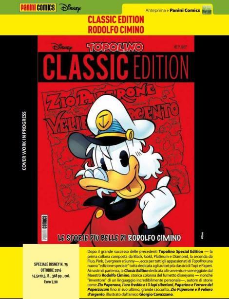topolino anteprima classic edition cimino
