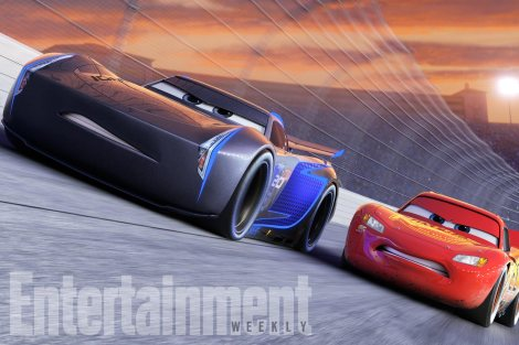 """CARS 3NEXT-GEN TAKES THE LEAD ó Jackson Storm (voice of Armie Hammer), a frontrunner in the next generation of racers, posts speeds that even Lightning McQueen (voice of Owen Wilson) hasnít seen.  """"Cars 3"""" is in theaters June 16, 2017. ©2016 DisneyïPixar. All Rights Reserved."""