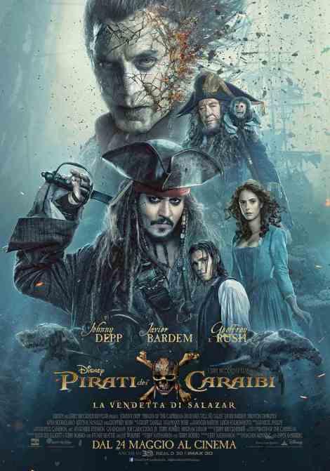 pirati dei caraibi vendetta di salazar poster italiano