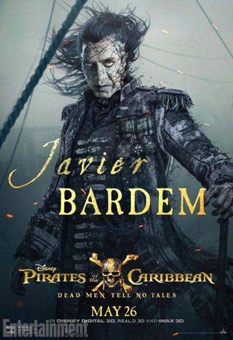 pirati dei caraibi vendetta di salazar character poster2