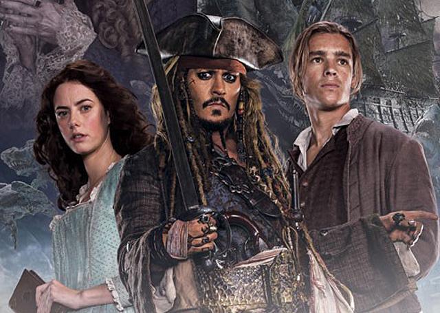 pirati dei caraibi poster tagliato