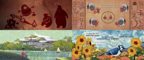 4) I titoli di coda, realizzati dall'artista Pixar Jim Capobianco, nascondono anche altre bellissime curiosità. Nella sequenza dei disegni animati possiamo infatti riconoscere una vera e propria cronologia della storia dell'arte: dai graffiti preistorici alla pixel art dei videogiochi 8-bit, passando per citazioni ad alcuni dei capolavori della pittura mondiale. La canzone che sentiamo di sottofondo è invece Down to Earth, scritta a quattro mani da Peter Gabriel e Thomas Newman.