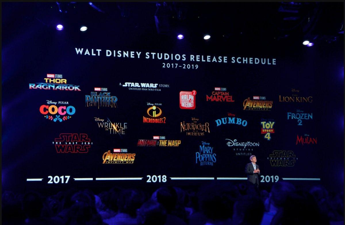 walt disney studios release schedule