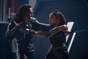 Marvel Studios' THOR: RAGNAROK..L to R: Loki (Tom Hiddleston) and Valkyrie (Tessa Thompson) ..Ph: Jasin Boland..©Marvel Studios 2017