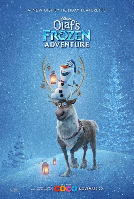 olaf frozen adventure poster cortometraggio cinema coco