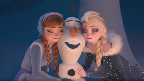 olaf frozen adventure cortometraggio screenshot anna elsa