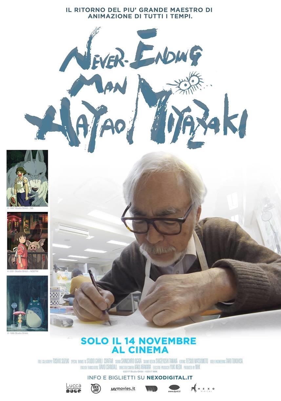 never ending man hayao miyazaki poster italiano documentario novembre