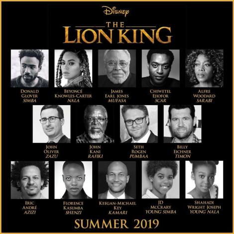 re leone remake disney pictures jon favreau cast completo
