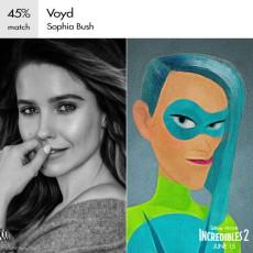 Voyd è una grandissima fan di Elastigirl e vorrebbe diventare una supereroina come il suo idolo. Il suo potere è manipolare gli oggetti intorno a lei, creando vuoti che le permettono di far apparire e scomparire ciò che la circonda.