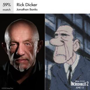 Rick Dicker per tanti anni ha protetto la famiglia Parr organizzando i loro trasferimenti quando la loro identità segreta era in pericolo. Nel sequel, il suo ufficio verrà smantellato lasciando i Parr senza protezione.