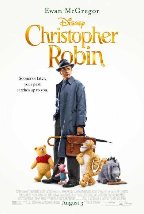 christopher robin nuovo poster ritorno al bosco cento acri